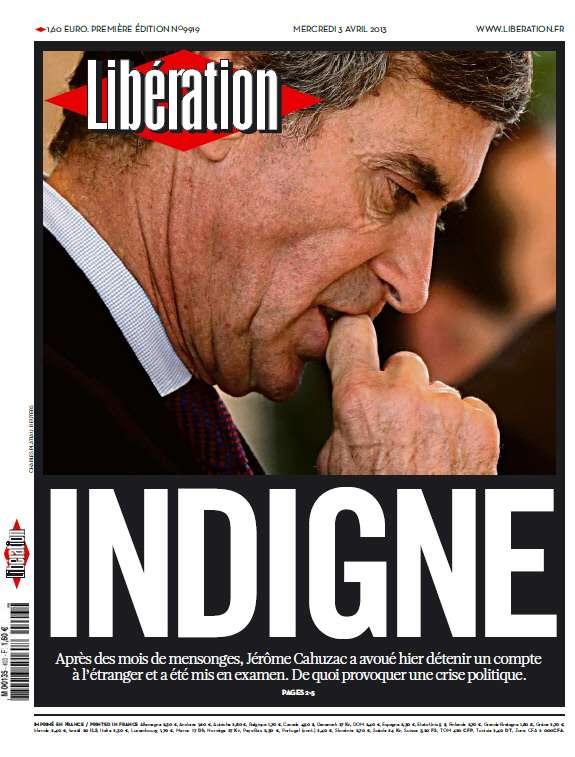 Libération Mercredi 03 Avril 2013