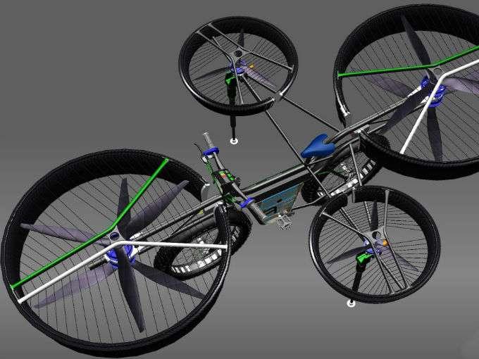 bicivuela - La primera bicicleta voladora (vídeo)
