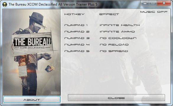 The Bureau: XCOM Declassified v.All Versions +5 Trainer [Grizzly]