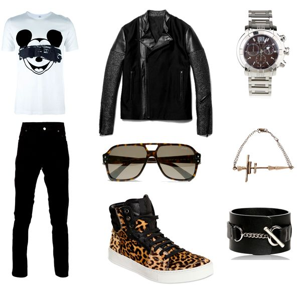 What I'd Wear Today: Leather, leopard and a dash of Mickey